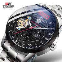 Tevise גברים שעון יוקרה אוטומטי מכאני שעונים נירוסטה בנד Waterproof עסקי שעוני יד Relogio Masculino