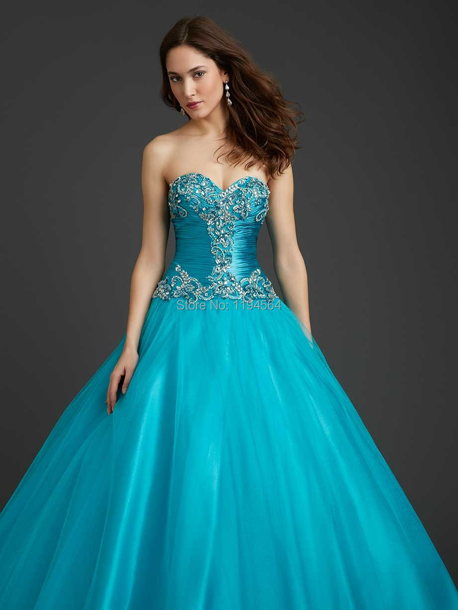 Aliexpress.com : Buy Princess Turquoise Quinceanera Dresses ...