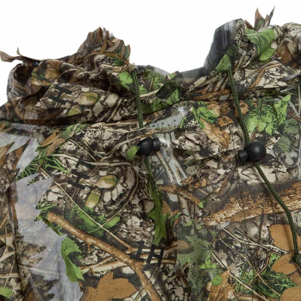1.5m と 3D 狩猟迷彩 Ghillie キャップスーツ服ジャングルマントポンチョ迷彩バイオニック葉狙撃用写真撮影