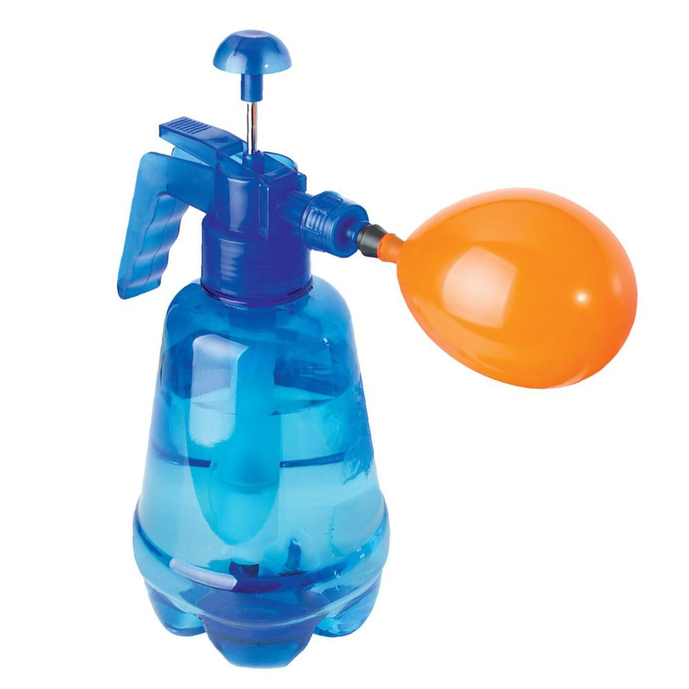300 Pieces Set Blue Children's Innovative Water Balloon Portable Filling Station Spray Bottle Manual Water Inflation Ball Toy
