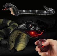 Novelty Remote Control Snake Naja Cobra Animal Trick Terrifying Mischief Toy RC Snaker Safari Garden Props Joke Prank Gift