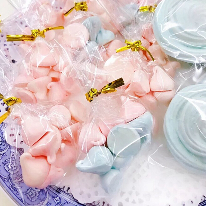 100 Pcs Transparent Plastic Bags Candy Lollipop Cookies Packaging Cellophane Bag Wedding Party Decorations Gift Bags(China)