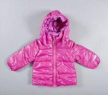 2017 новорожденных девочек зимние толстовки теплые Высокое качество горячей продажи мода вниз пальто розовые дети верхняя одежда девочка одежда vetement гарсон