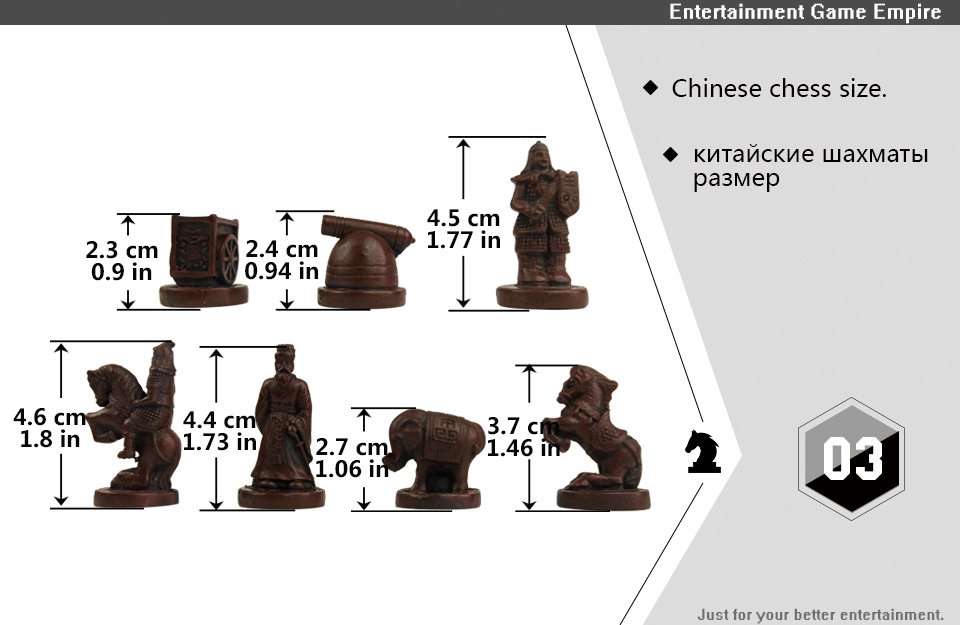 2 Yernea High-grade Wooden Chinese Chess Game Set Folding Chessboard Chinese Traditions Chess Resin Chess Pieces New Board Game (3)