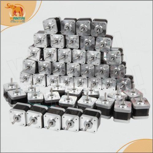 60 pièces NEMA17 0.9 degré 1.7A 4000g. cm 56oz-in 40N. cm moteur pas à pas moteur pas à pas, phase 2, 3D Imprimante 42BYGHM809