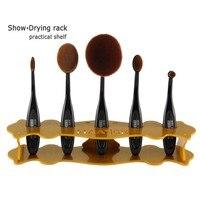 5 Agujeros de Rack Cepillo de Secado de Pie Maquillaje Cosmético Pro Brush Holder para 5 unids Fundación Cepillos cepillo de Dientes Al Por Mayor
