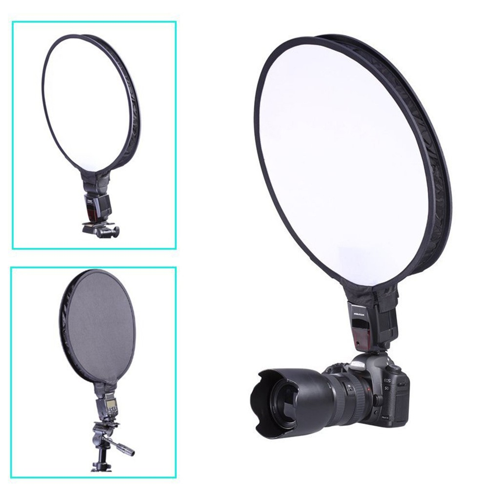 30cm 12 Portable Mini Round Studio Softbox Photography Flash Diffuser Softbox for Canon Nikon Sony Yongnuo