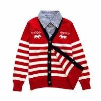 Brand New Autumn And Winter Boys Cardigan Sweater Kids Sweater Boys Knitwear Casual Style Boys Sweater