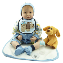 22″ high quality doll reborn toys cloth body soft silicone reborn babies boys luxury accessories for kids gift bonecas reborn