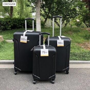 CHENGZHI Новый недорогой комплект багажа на колесиках из АБС-пластика, 20, 24, 28 дюймов