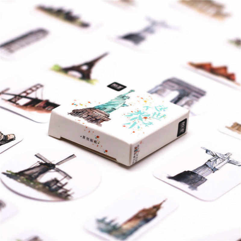 45 adet/paket Kawaii kitaplar için yer imleri kağıt sticker sevimli kahve kedi desen öğretmen hediye okul ofis aksesuarları yer imleri