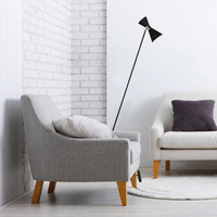 Floor lamp postmodern simple gold black LED lamps sitting room sofa bedroom study creative personality Standing lamp ball base
