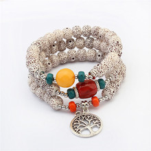 ФОТО dropship trendy jewelry exotic beads bracelet national wind multi color bracelet tree of life pendant for women