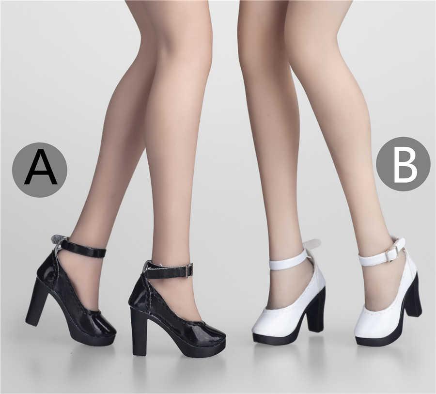 1/6 масштабные женские черные/белые туфли на высоком каблуке, ботинки, модель, аксессуары, игрушка для Phicen Ud Verycool Figure