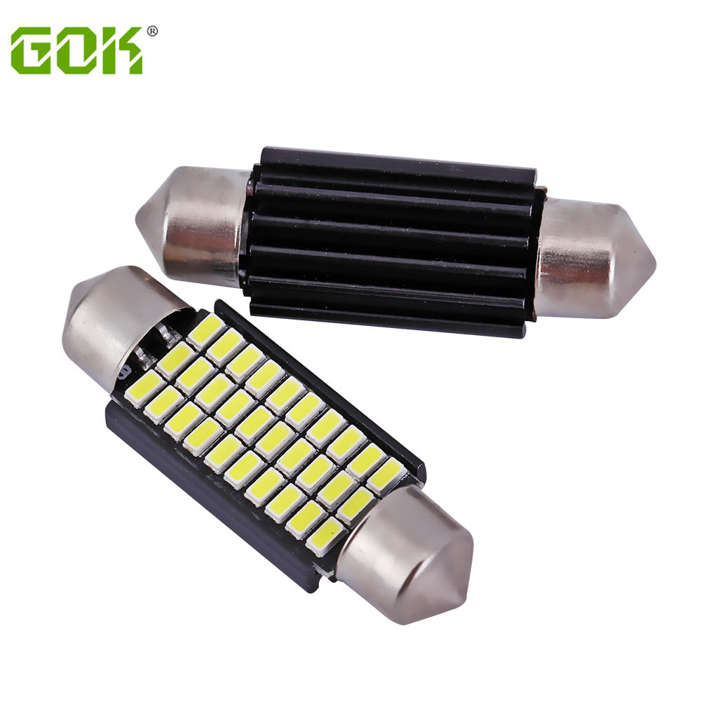 10 x 39MM Festoon led Dome C5W 3014 30SMD LED Canbus Car Door Reading light Luggage Bulb dome light  car led source 2pcs festoon led 36mm 39mm 41mm canbus auto led lamp 12v festoon dome light led car dome reading lights c5w led canbus 36mm 39mm