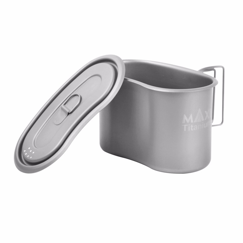 MAXI GC-950 Ultralight Titanium Pot Folding Military Lunch Box 950ml for Outdoor Camping Hiking gc classic x81007g2s