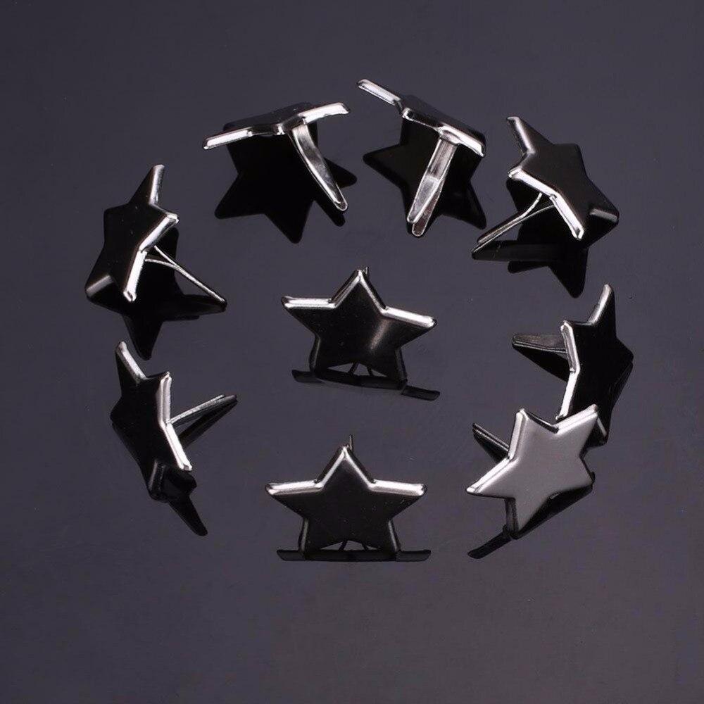 SOLEDI 50 шт. серебряный цвет пятиконечная звезда Металлические Brads заклепки застежка украшения для рождественской вечеринки декор Рождественские огни DIY инструмент