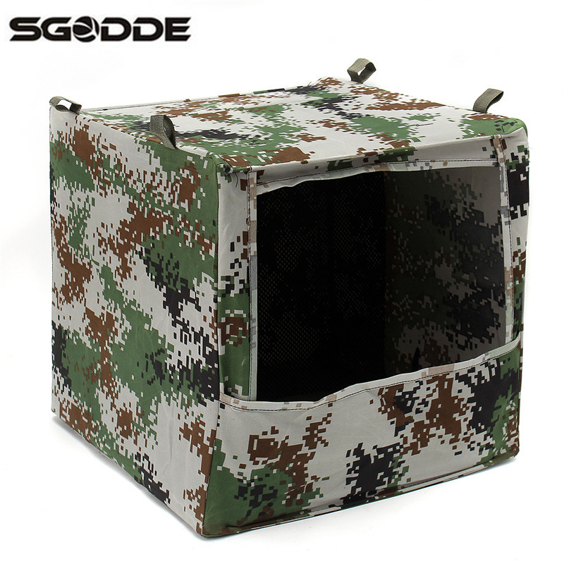 Hot Sale 40x40x40cm Outdoor Hunting Foldable Camouflage Camo Box-type Airsoft Slingshot  ...