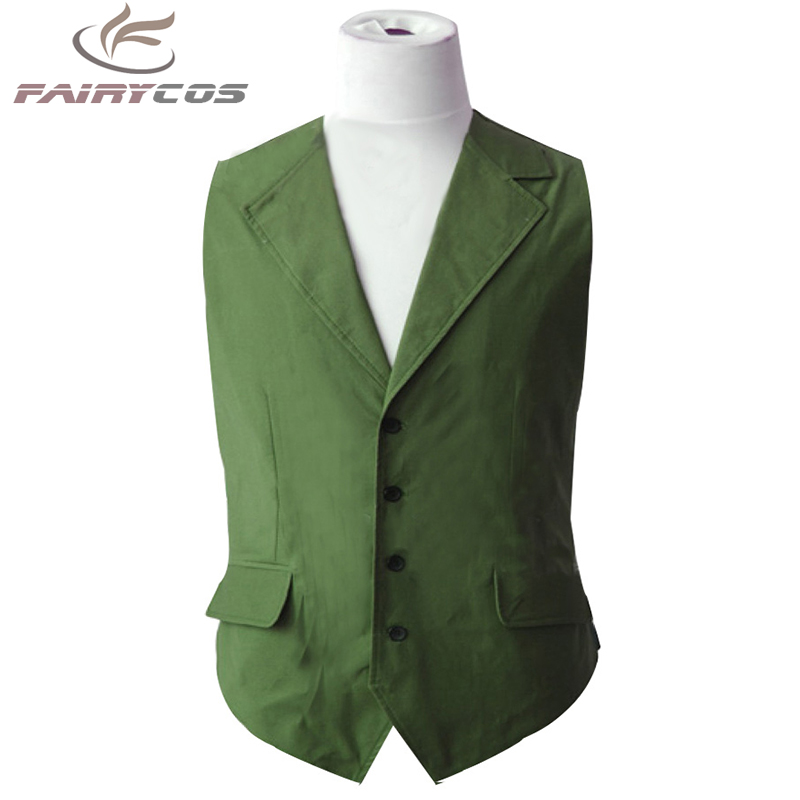 Cosplay Costume Batman Dark Knight Joker Hexagon  Green Vest  Cosplay Costume Adult Men Halloween Costumes