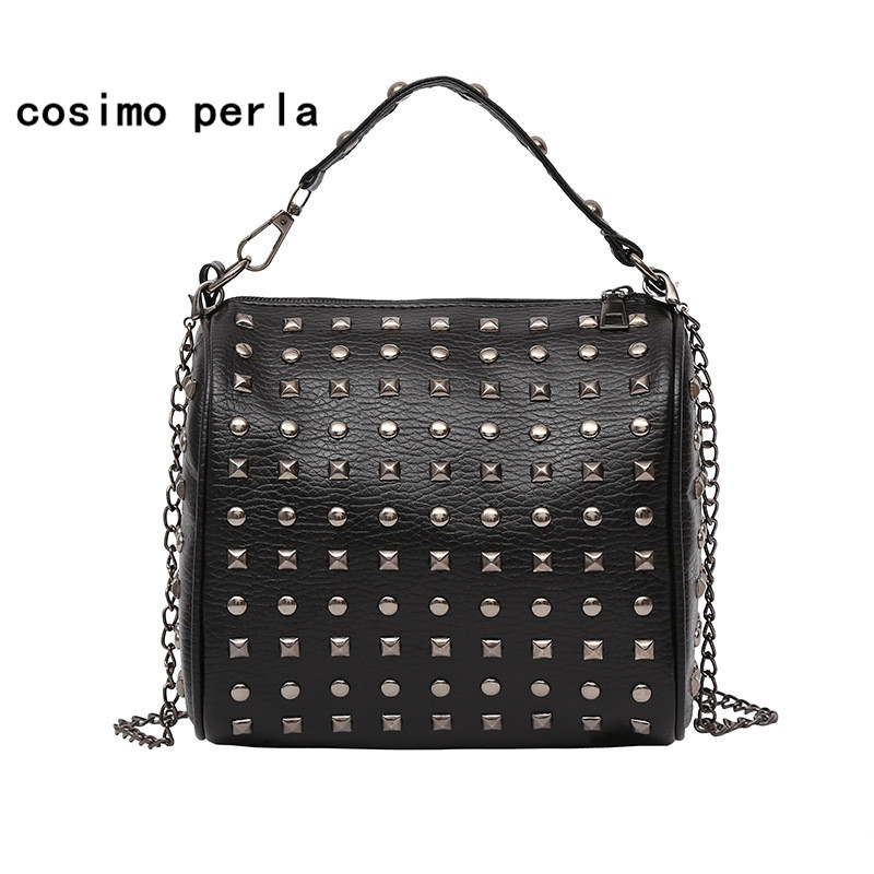 Rivet Leather Shoulder Bag Fashion Chain Crossbody Bags for Women Designer Handbags High Quality Small Luxury Causal Totes Lady