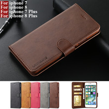 For iphone 7 Case Flip Magnetic Phone Case On Hoesje iphone 8 Case Leather Vintage Wallet Case For i phone 7 8 Plus Apple Cover cheap HOTSUNTOWN Wallet Case For iphone 7 8 iphone 7 Plus 8 Plus Case Apple iPhones IPHONE 8 PLUS Plain Heavy Duty Protection