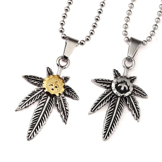 Golden bling japan takahashi goros engraved pendants necklaces men golden bling japan takahashi goros engraved pendants necklaces men women titanuim steel hemp leaf jewelry gifts aloadofball Choice Image