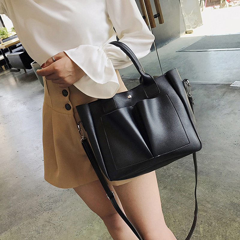 Top-handle Bags Leather Handbags For Women High Quality Casual Shoulder Bag Trunk Tote Messenger Crossbody Solid Color Large Bolsos Back To Search Resultsluggage & Bags