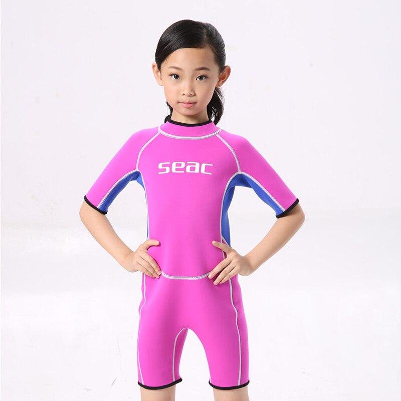 2.5mm Neopren mayo Uşaq Baby Boys Qızlar Wetsuits Snorkeling - İdman geyimləri və aksesuarları - Fotoqrafiya 5