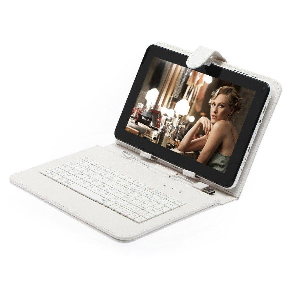BODA 9 дюймов Android 4.2 Планшеты PC 8 ГБ/512 МБ двухъядерный A33 1.5 ГГц W/белый клавиатура