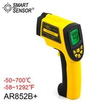 Dijital Kızılötesi Termometre El Temassız Kızılötesi Pirometre Ölçer LCD Ekran Backlight AR852B +-50 ~ 700C
