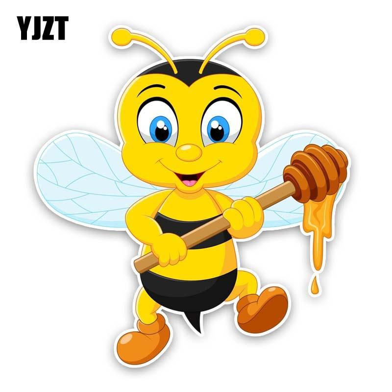 YJZT 13.9CM*15CM Bees Are Making Honey PVC Cartoon Decal Car Sticker 12-300812