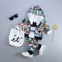 New Kid Baby Boy Girls Clothing Sets Fashion Print Cartoon Casual Toddler Girls Baby Suit For