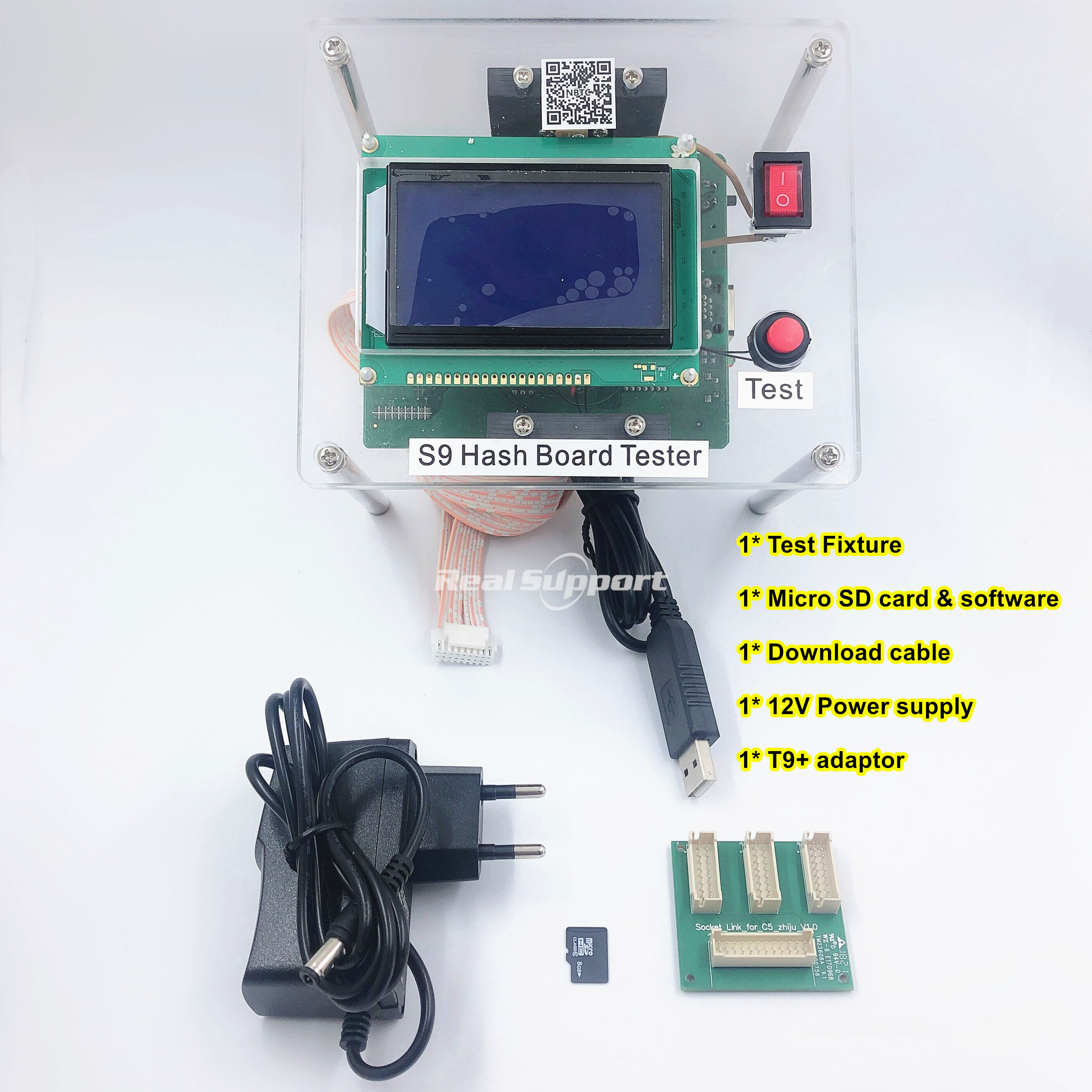 Full set Test Fixture hash board hashboard tester For Antminer S9 S9i S9j T9 T9 Replace