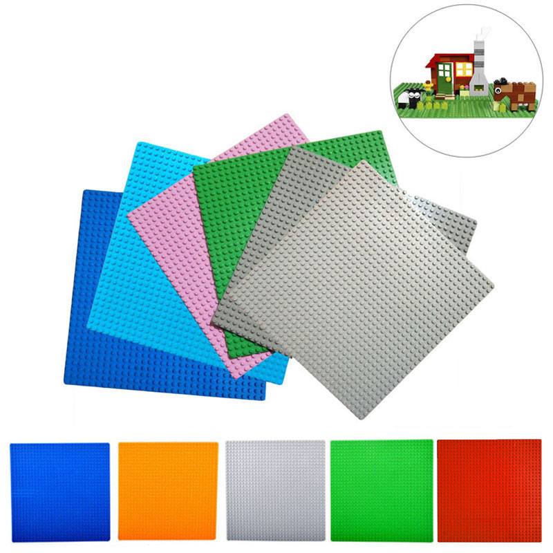 New 32*32 Dots Not Easy Break Dots Small Blocks Base Plate 2Pcs Building Blocks DIY Baseplate Compatible for lEgOIngLY Blocks 32 32 dots plastic bricks the island straight crossroad curve green meadow road plate building blocks parts bricks toys diy