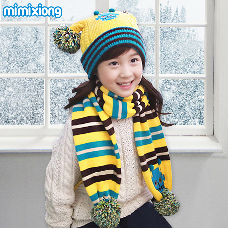 Winter Warmer Girls Beanie Cap Scarf Set Autumn Knitting Pattern ...