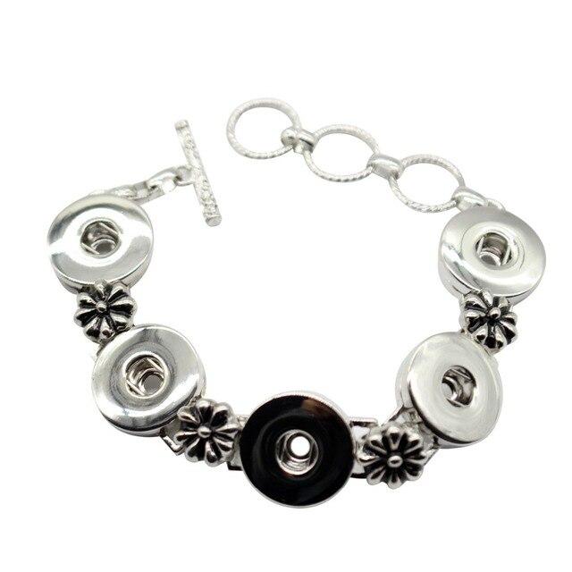 High quality bracelet snaps bracelets pour snap button fit 18-20mm Interchangeable ginger snaps bracelet bangels SMB18-61
