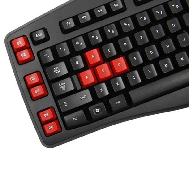 Logitech g103 usb wired 111-key gaming keyboard black + red.