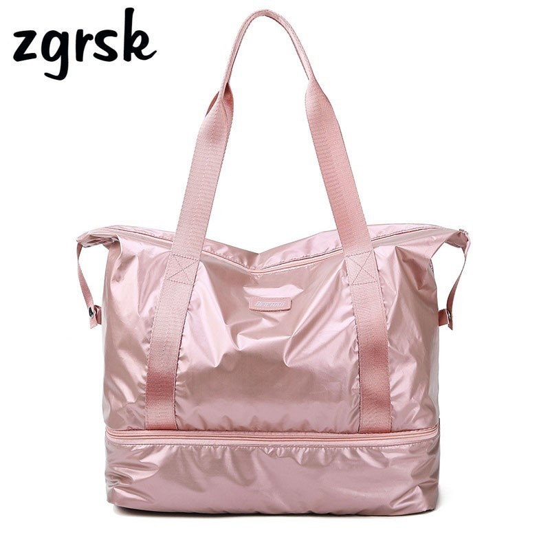 Women Duffle Bag Suitcase Fitness Ladies Travel Bags Dry Wet Tas Handbags Women Luggage Bag With Shoes Pocket Traveling