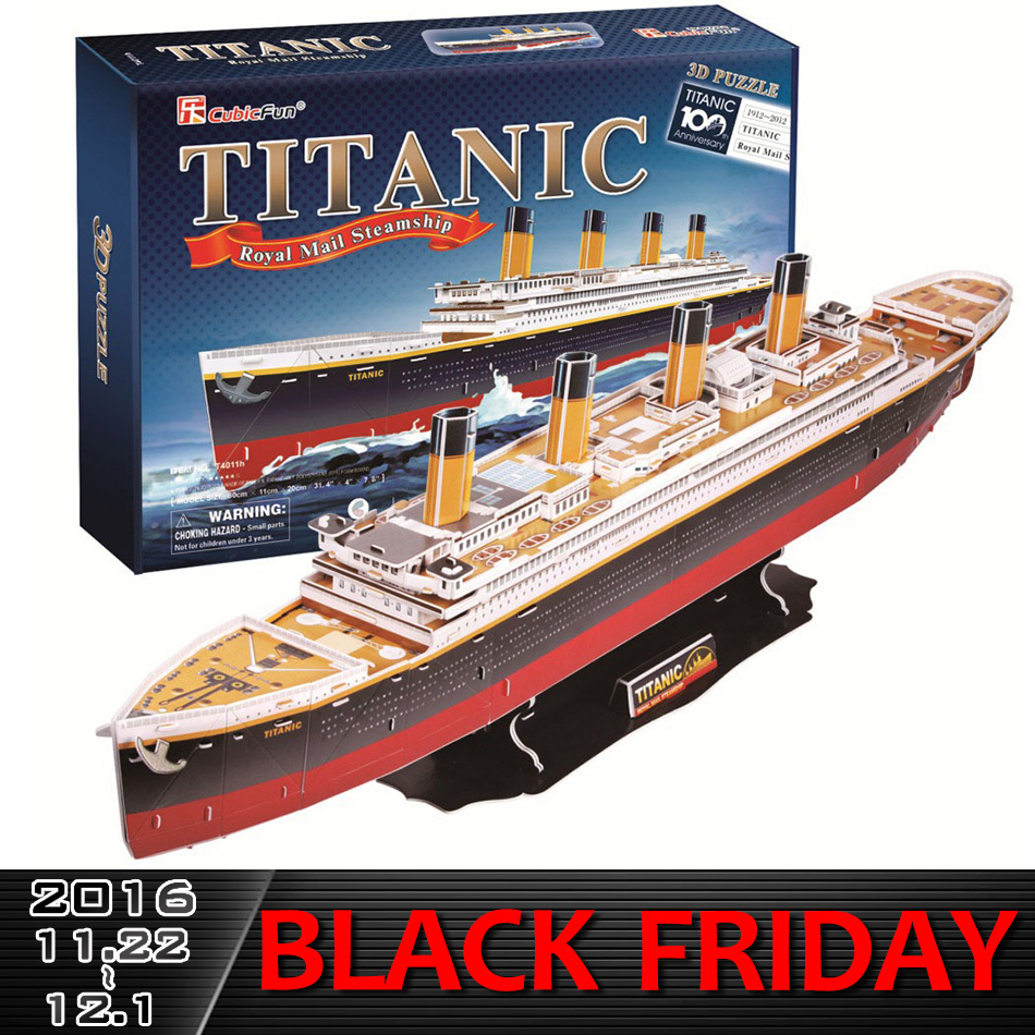 ФОТО New Educational 3D Model Puzzle Children Kids DIY Toy Titanic warship ship building learning & education classic Free shipping