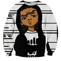 Newest Fashion Men/Womens Cartoon Boondocks Boy 3D Print Sweatshirt S M L XL XXL 3XL 4XL 5XL