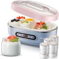 Мишка Йогуртницы 2 шт лайнер 8 шт фарфоровая кружка для пудинга бутылка для йогурта чашка терморегулятор кухонный прибор