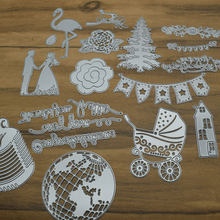 Circle Frame Flower Cutting Dies Stencils Scrapbooking Dies Metal DIY Embossing Photo Album Cards Making Kit Craft Dies(China)