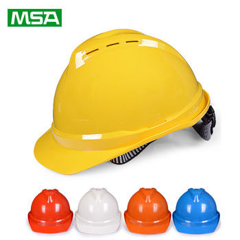 MSA Safety Helmet V-Gard ABS Material Type Hard Hat Breathable Work Cap Security Labor Construction Working Protective Helmets safety helmet hard hat work cap abs material construction protect helmets high quality breathable engineering power labor helmet
