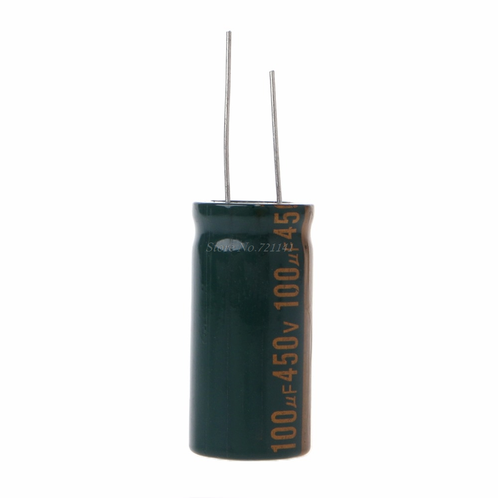 450V 100uF Capacitance Electrolytic Radial Capacitor High Frequency Low ESR Dropship