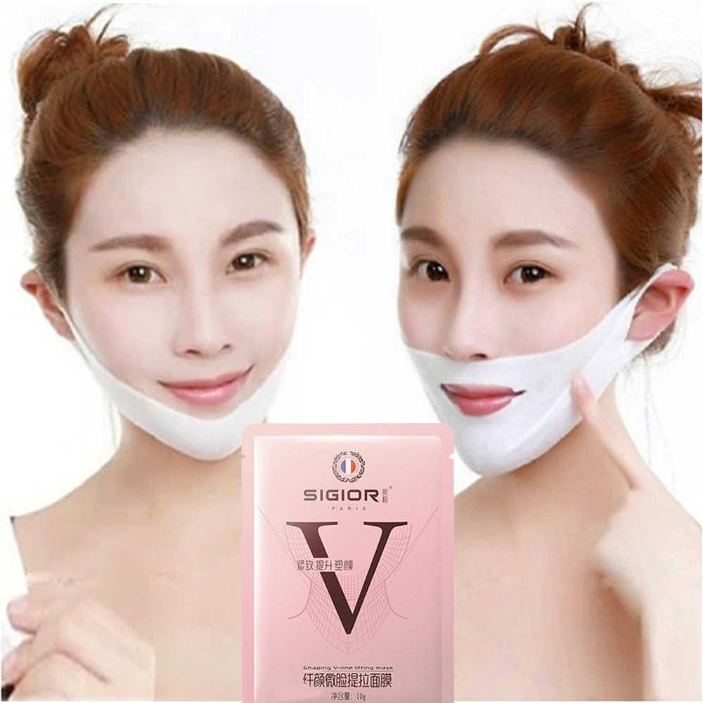 新しいピンクリフティング痩身フェイスマスク V シェイプ 2 個フェイスリフト剥離マスク V シェイパー V シェイパー顔包帯スキンケア TSLM1