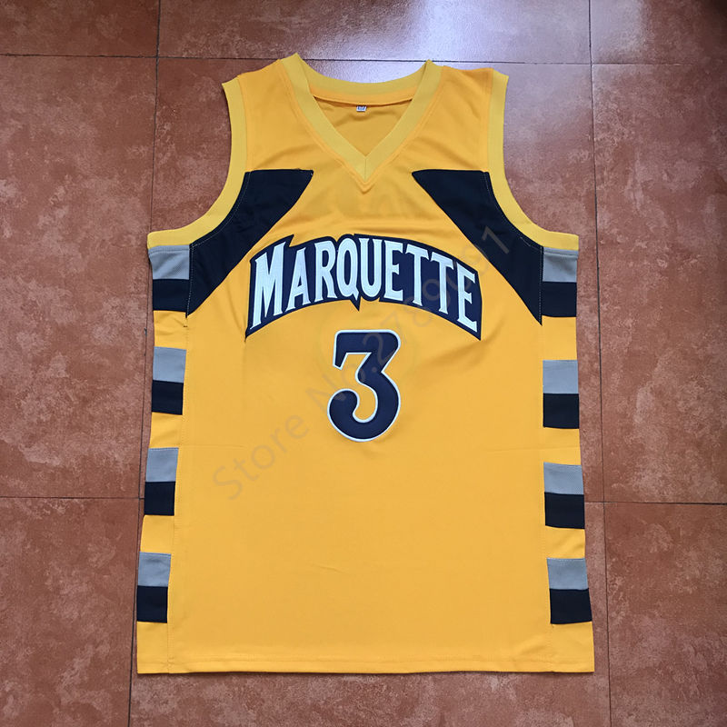 6794fe4e734 ... real online shop new dwayne wade 3 college marquette golden eagles  basketball jersey all size aliexpress