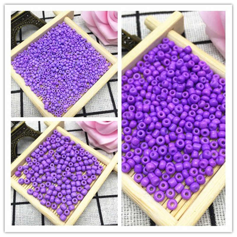 NEW DIY 2MM 3MM 4MM Size Glass With silve Seed Spacer beads Jewelry Fitting