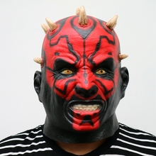 Latex Movie Darth Maul Mask Full Head Scary Horror Halloween Head Mask For Costume Cosplay Party Ball Fancy Dress