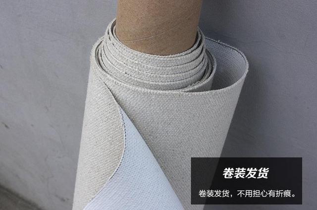 1.7*20 m roll zware ruwe textuur linnen canvas voor kunstenaars 555g