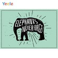 Yeele обои слон без торговли не убивает сильный фон для фотосъемки